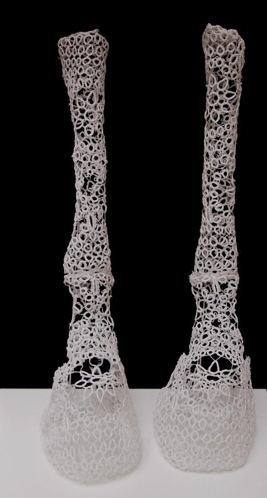 prothèses, 2015. Dentelle polymérisée