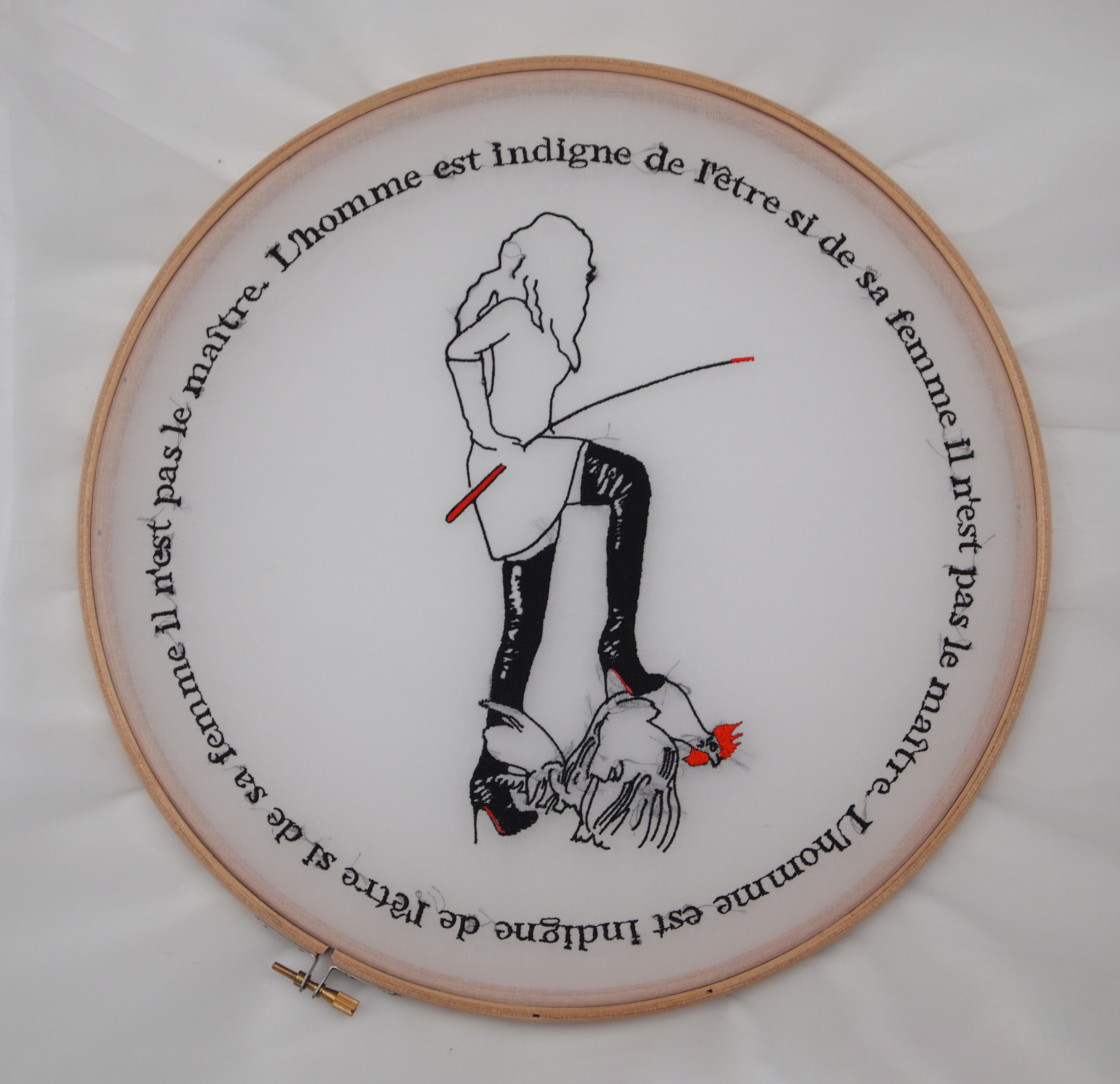 Les proverbes français, 2016. Broderie mécanique. 50x50 cm
